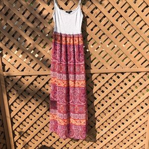 Patterned Long Maxi Summer Sundress Dress